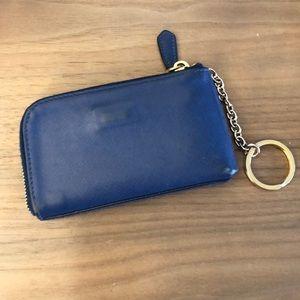 2314403e8279 Prada Bags - Women s Prada Saffiano Leather Blue Coin Purse